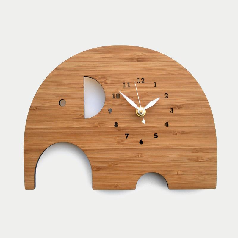 디코이랩 코끼리 우드 벽시계(Decoylab  Elephant Wall Clock Large)
