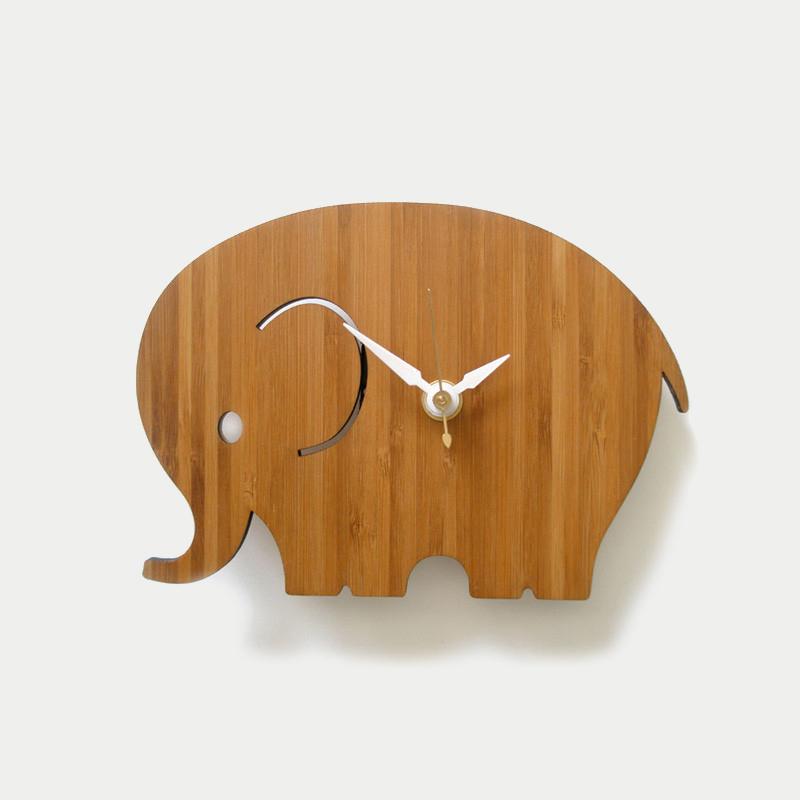 디코이랩 아기코끼리 우드 벽시계(Decoylab  Elephant Wall Clock Small)