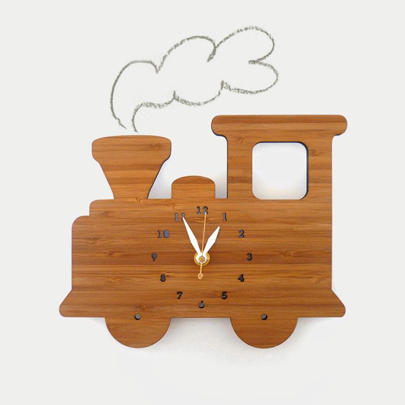 디코이랩 기차 우드 벽시계(Decoylab  Train Wall Clock)