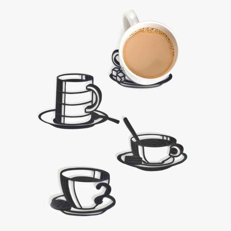 벨렉 디자인 스케치 컵받침/ 실리콘 컵받침(Peleg Design Sketch Coasters)