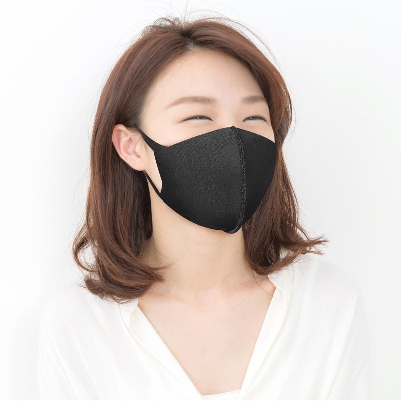 [샘플] 브이라인 마스크 에어로실버 이중지 블랙