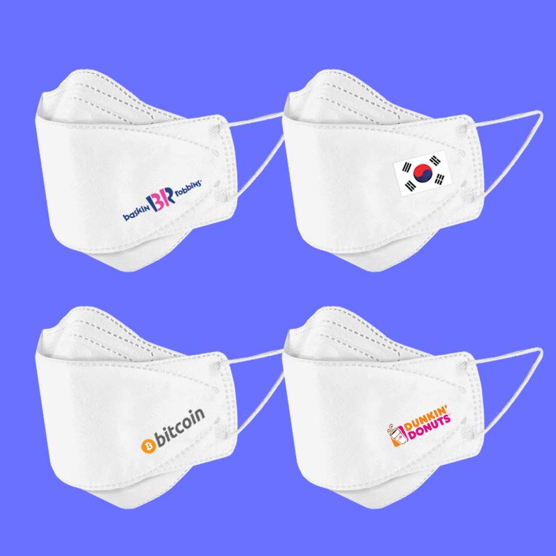 로고인쇄 KF94타입 마스크 화이트 1장