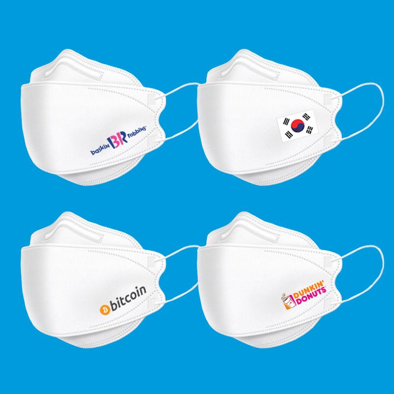 로고인쇄 KF80타입 마스크 화이트 1장